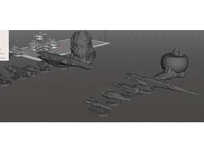 ROBOTECH Inherit the Stars Zentran Fleet RRT Strategy GAME PIECES
