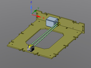 y-axis belt tensioner/idler