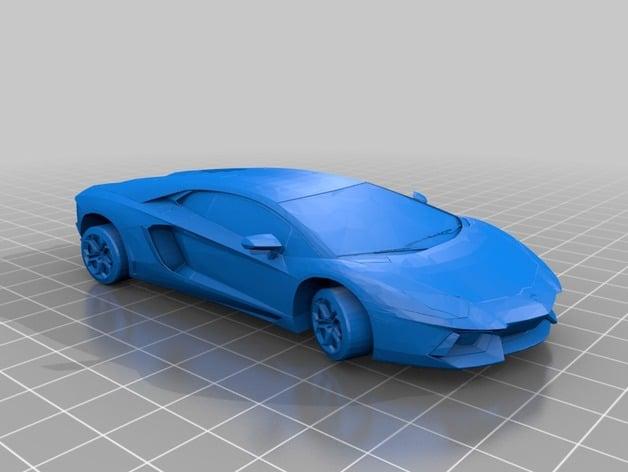 3D Print ready  stl file Lamborgini by YoYoRadical1234