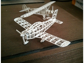 Zlin Z-242 frame model (esc: 1/64) (No 3D print, CNC routing)