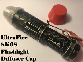 UltraFire SK68 Flashlight Diffuser Cap