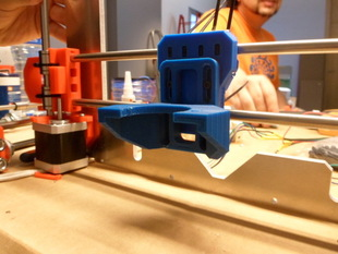 Levelable Greg-Wade-Jonas-Misan extruder support for Prusa i3