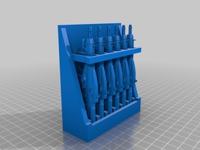 Miniature Rifle Rack 2.0 Fully Stocked
