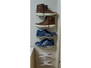 Shoe rack (shelf) and organizer for walls