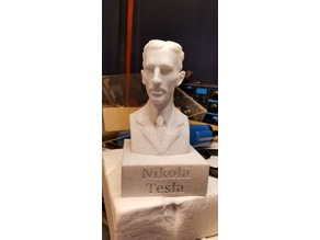 Tesla Bust with Plinth