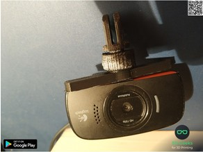 Logitech c525 Rotary Axis mount for Modular Mounting System