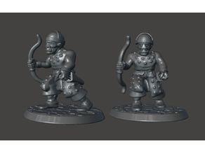 28mm - Orc / Goblin / Hobgoblin Archer Miniature With Bow