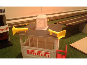 Loudspeaker for sclalextric control tower