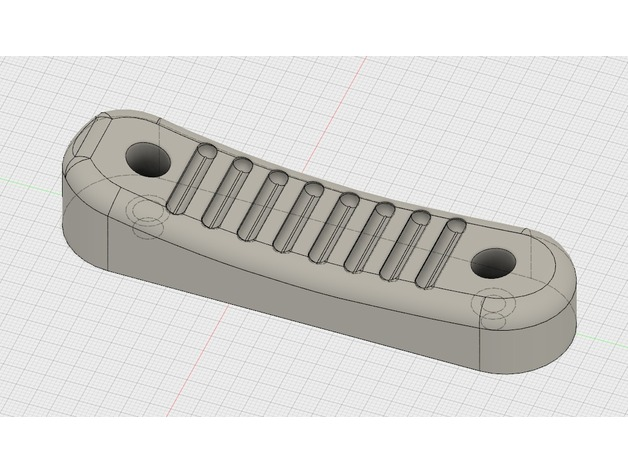 ACE skeleton stock recoil pad by jyrkipa - Thingiverse
