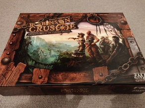 Robinson Crusoe - Adventures on the Cursed Island (1st edition) board game insert