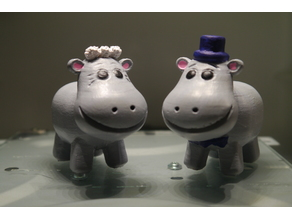 Hippo Bride and Groom