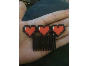 Legend of Zelda Hearts Hair Comb