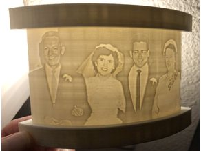 Lithophane Stand for Curved 100mm Wide 2.4mm Thick