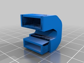 air duct for adventurer 3 nozzle for abs printing.