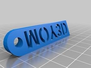 MOY3D logo keychain.