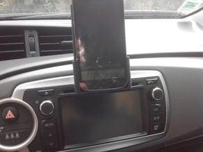 car cd player phone holder