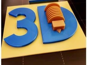 3D LOGO 3D DRUCK & SUPPORT Multicolor