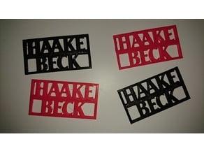 Haake Beck Schlüsselanhänger/Schild
