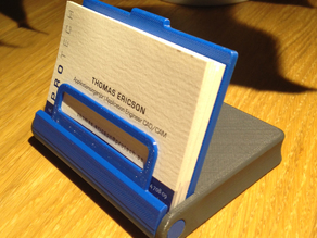Flip-Up Business Card Case/Stand