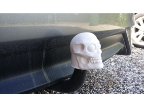Skull 50mm tow hitch ball cover