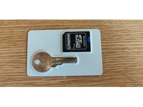 Key and key+card adapter for wallet