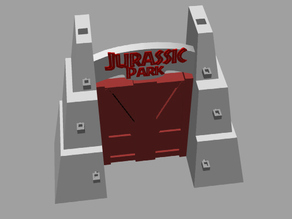 """Jurassic Park Gate """"What do they have in there King Kong"""""""