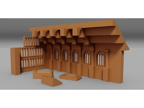 Castle Great Hall Lego Compatible