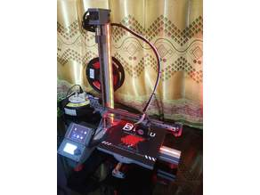 Great Robin 3D Printer a Little Upgrade from Bad Robin 3D Printer Sturdy Speedy Linear Guide Low Cost Sensorless