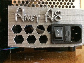 Anet A8 - Power case with AC Hole