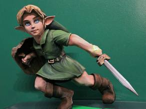 Young Link Legend of Zelda Ocarina of Time Fan Sculpt
