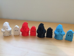 Flat Ghost Meeple from Ghostel by Tinkerbot Games