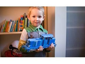 """3D printable train - """"Diesel 01"""" locomotive - oldest design of ERS models family"""