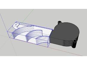 Vertex K8400 Electronics Radial Fan Mount