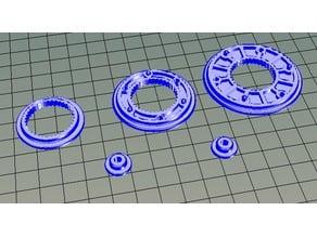 Pulleys using 608 bearings
