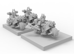 6mm epic scale Chaos bikers
