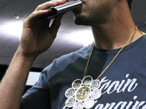 Bitcoin Bling Necklace