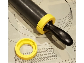 60mm rolling pin spacers - 2, 5, and 10 mm thickness