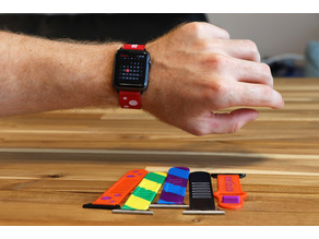 Multi-Material and Multi-Color Flexible Watch Band
