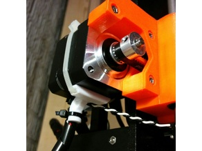 Prusa i3 Mk2 x-end stepper motor strain relief