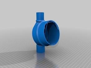 Absaug Winkelanschluss 56 x 100 x 32mm für Bosch GTS10 XC