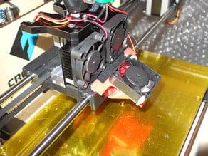 Cooling fan hanger for FlashForge Creator 3D printer