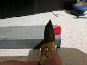 Knife sharpening angle blocks