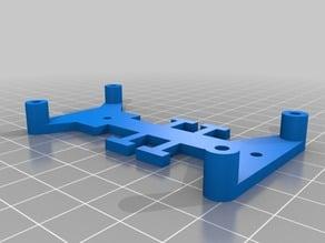Upper frame for Escornabot single PCB (motors down)
