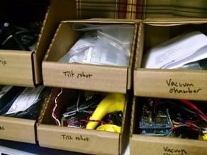 Parts bin organizer