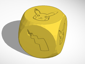 Pikachu Pokemon Dice - d6 Heads or Tails