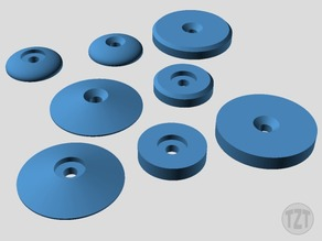 Customizer - Finishing Washer, Button, Ring, Pad, Accent