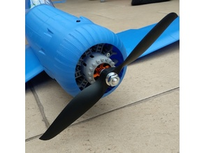 3DLabPrint Corsair 1/12 dummy radial engine (for 3530 motor)