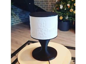 Lithophane round bedside lamp