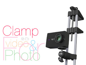 Clamp for vertical use. Photo and video shooting