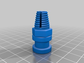 Tapered thread bowden coupling for Grove Mount